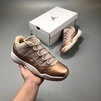 "Air Jordan 11 Low AJ11 ""Rose Gold"""