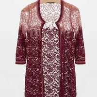 Gimmicks by BKE Lace Cardigan