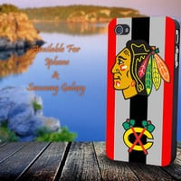 Chicago Blackhawks Stanley Cup Champion - Print on hard plastic for iPhone case. Please choose the option.