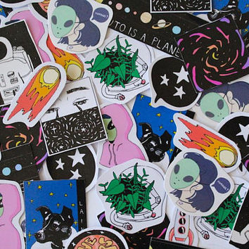 Aesthetic Space Stickers