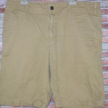 Mens Sz 38 Shorts Urban Pipe Line Tan Cotton