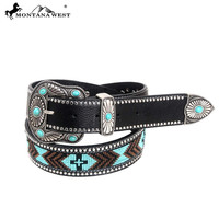 Montana West BT-024 Western Aztec Hand Beaded Belt