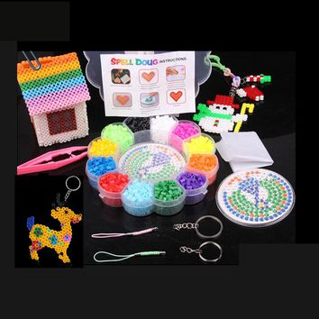 1 Set New Perler Beads 5mm Hama Beads 12 Colors Fuse Beads 1500Pcs Jigsaw Handmaking Puzzle Educational DIY Kids Toys