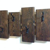 Rustic coat rack, wall coat rack, entryway coat hook rack, towel rack, rustic coat hook