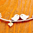Love Birds Necklace - couple necklace, valentine's jewelry, be my valentine, heart necklace, love necklace, gifts for her