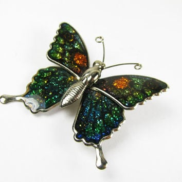 Vintage Butterfly Brooch /  Wedding Brooch - Broche Papillon.