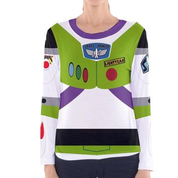 Women's Buzz Lightyear Toy Story Inspired Long Sleeve Shirt