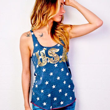 USA Tank Top - 4th of July