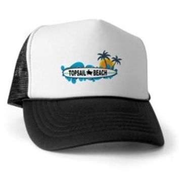 Topsail Beach NC - Surf Design Trucker Hat> Topsail Beach NC - Surf Design> Beach Tshirts.