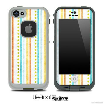 Vintage Stripes and Circles Skin for the iPhone 5 or 4/4s LifeProof Case