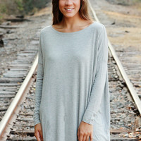 Piko Dress - Heather Grey