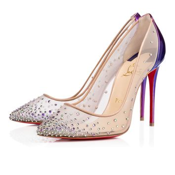 FOLLIES STRASS KID, CRYST PARADISE, Strass, Women Shoes, Louboutin.