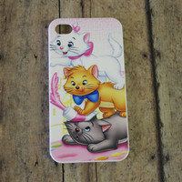 aristocats, cats, black, white, orange, kittens iPhone 4/4s case/cover No.4-29
