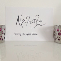 Namaste - black on white - DIN A4 - Yoga Wall Art Print handmade written - original by misssfaith