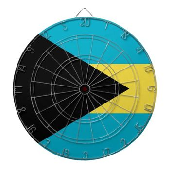 Dartboard with Flag of Bahamas