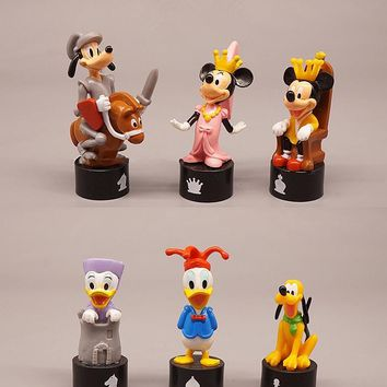 Disney Mickey Mouse Minnie 6pcs/set 6-8cm Action Figure Posture Anime Decoration Collection Figurine Toy model for children gift