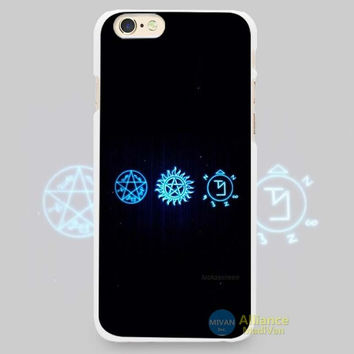 "Supernatural Symbols, ""Devil's Trap/Anti-Possession/Banishing Sigil"" Phone Case For iPhone 7 7Plus 6 6s Plus 5 5s SE"