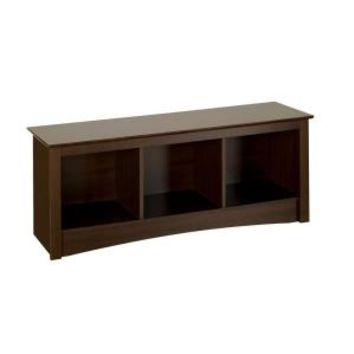 Prepac Fremont Cubbie Storage Bench in Espresso ESC-4820 at The Home Depot - Mobile
