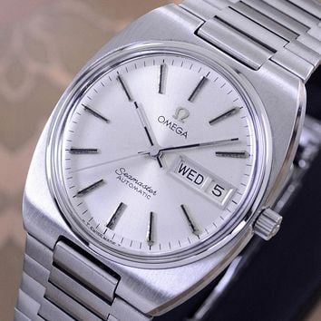 VINTAGE OMEGA SEAMASTER AUTOMATIC DAY&DATE CAL 1022 SILVER DIAL MEN'S WATCH