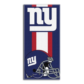 New York Giants NFL Zone Read Cotton Beach Towel (30in x 60in)
