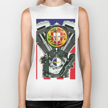 Luso-American Motorcycle Patriot. Biker Tank by Tony Silveira