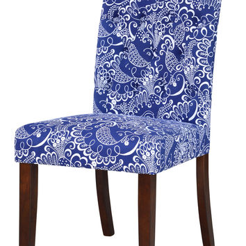 Fulton Blue Tufted Dining Chair (Set of 2)