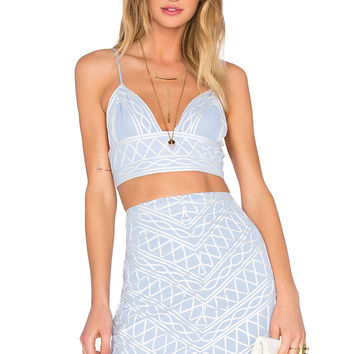 NBD Always This Late Bralette in Dream Blue