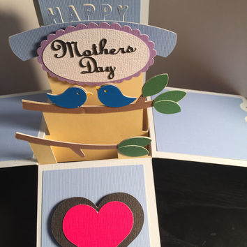Handmade Pop-up Box Card - Mothers Day