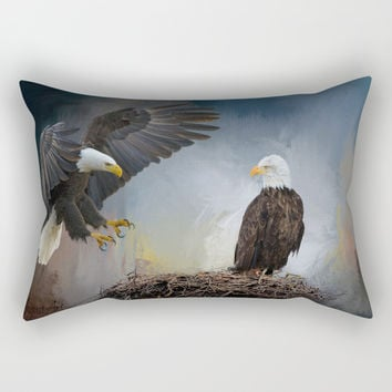 Eagles Nest Rectangular Pillow by Theresa Campbell D'August Art
