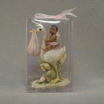 """4.25"""" Stork African American Baby Shower Favor (Minimum Qty of 30)"""