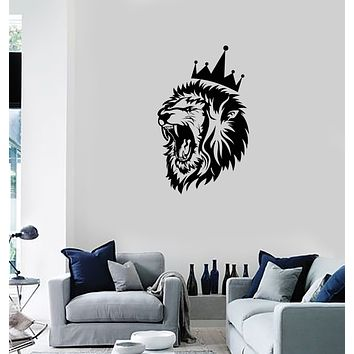 Vinyl Wall Decal Lion King Tribal Art Animal Predator Man Cave Interior Stickers Mural (ig5958)