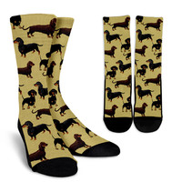 Dachshund Pattern Socks