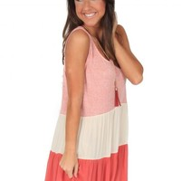 Carry On Dress in Coral | Monday Dress Boutique