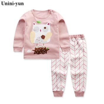 Girls Set owl Animal children's clothing top& Leggings Brand Cotton Children Clothing Kids Autumn Clothes Sets Baby Girl Outfit