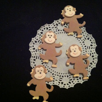 Jungle Party Decorations, Monkey Birthday Favors, Jungle monkey Cake Topper, Monkey Baby Shower, Baby Monkey, Cupcake Monkeys Toppers, Monkey Decorations