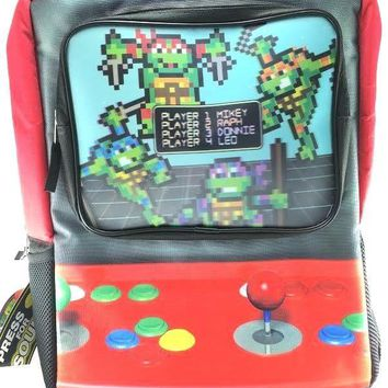 "Teenage Mutant Ninja Turtles Big Boys Arcade Game 16"" Backpack, Red, 16"