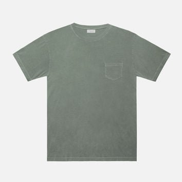 Oversized Pocket Crew / Olive