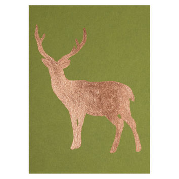 Buck Copper Leaf Holiday Card