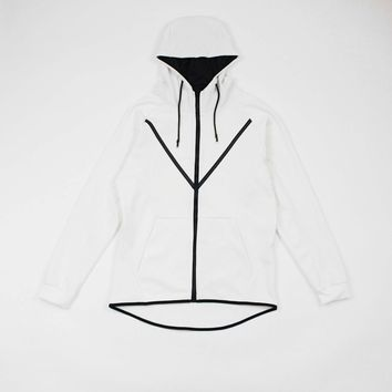 Carson Tech Fleece Hoodie (White)