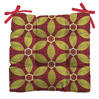 Raven Jumpo Ruby Amber Mosaic Outdoor Seat Cushion