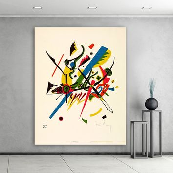 HDARTISAN Abstract Wall Art Pictures For Living Room Wassily Kandinsky Small worlds Home Decor Canvas Art Oil Painting