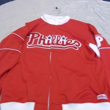 STITCHES PHILADELPHIA PHILLES MLB TRACK JACKET SHIPPING LOW PRICE
