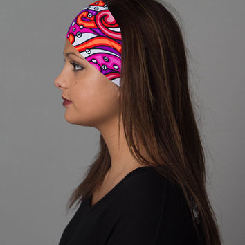 Yoga Headband - Running Headband by Manda Bees - Octopus Headband - Non Slip Headband - No Slip Fitness Workout Headband - KRAKEN