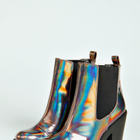 Izzy Holographic Cleated Sole Pull On Boot
