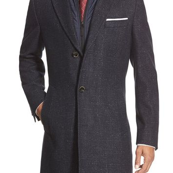 BOSS 'Logan' Trim Fit Wool Blend Overcoat | Nordstrom
