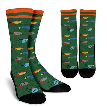 Fishing Bait Pattern Socks - Promo