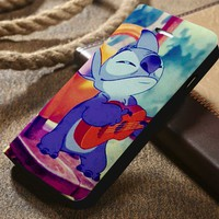 Disney Stitch Custom Wallet iPhone 4/4s 5 5s 5c 6 6plus 7 and Samsung Galaxy s3 s4 s5 s6 s7 case