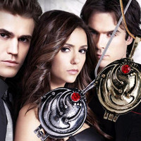 Tomtosh 2016 New Fashion Vintage Necklaces & Pendants Vampire Diaries Elena Gilbert Necklace Verbena Necklace