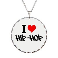 I Heart Hip-Hop Necklace Circle Charm