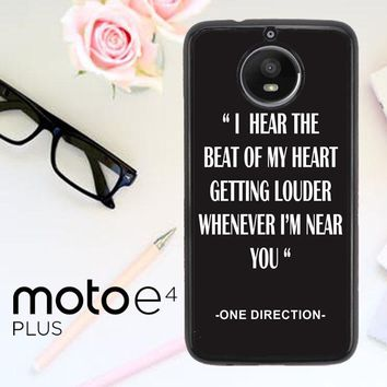 One Direction Lyrics R0263 Motorola Moto E4 Plus Case
